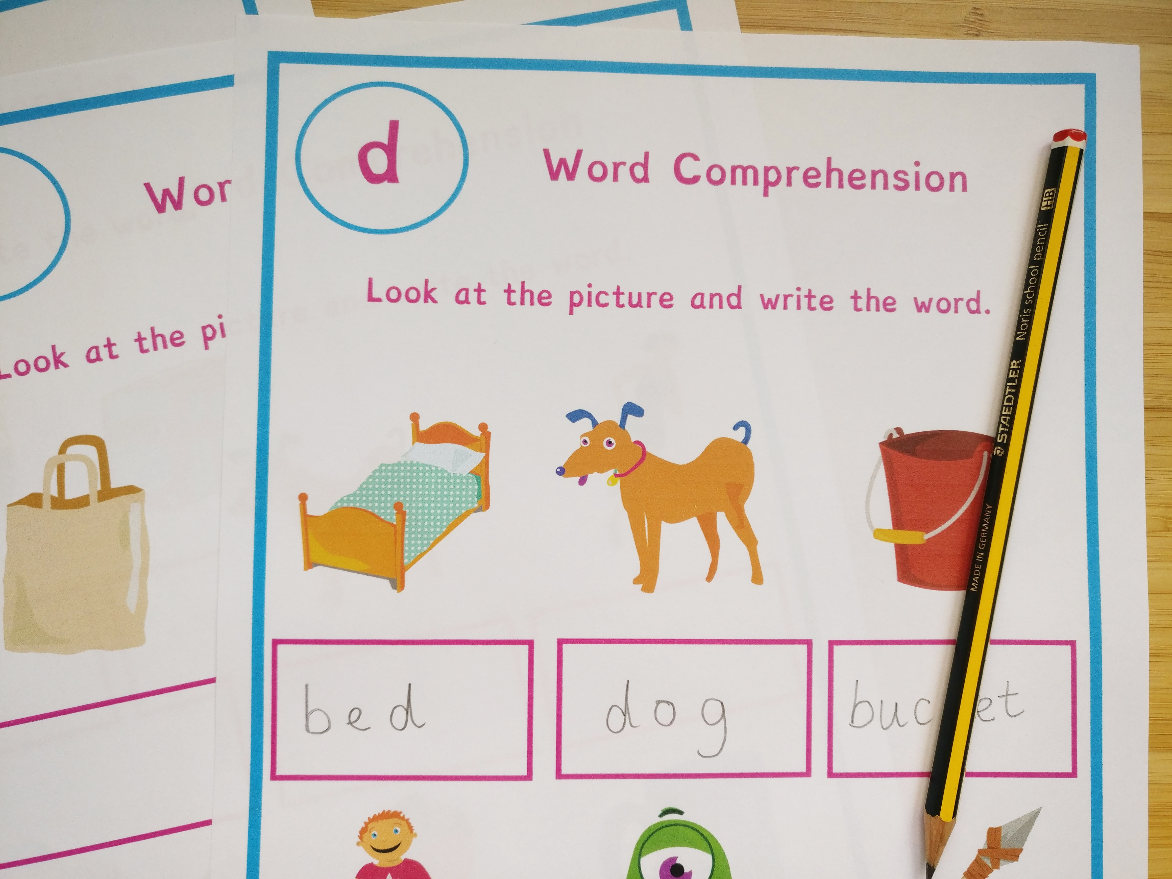 Phonics Missing Word Worksheets