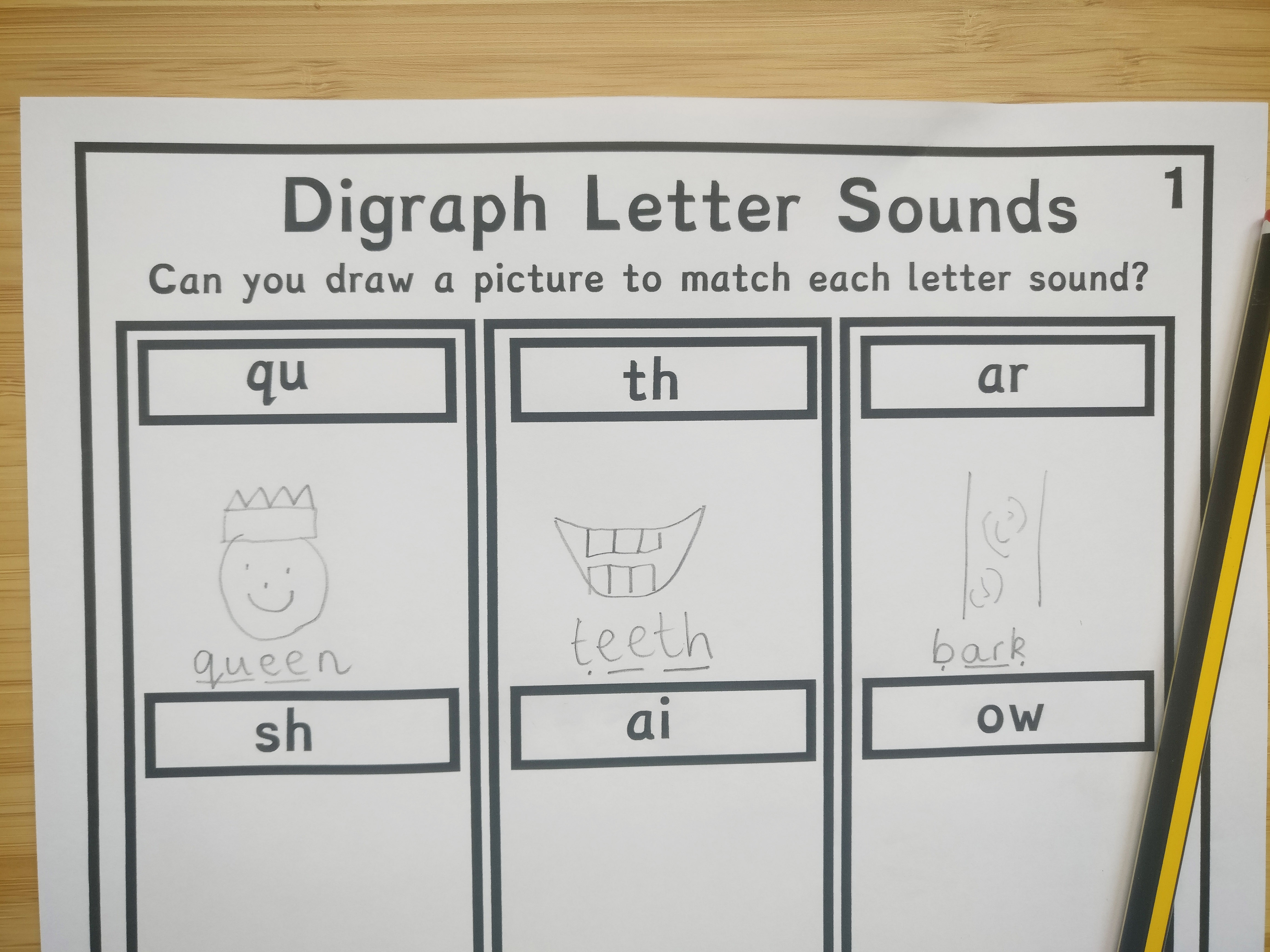 Draw a Picture to Match the Sound